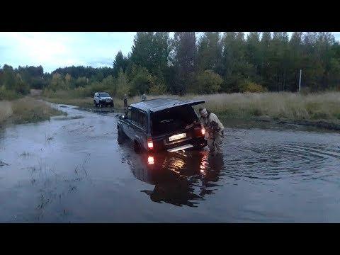 Бешенный X-Trail по грязи на танковой дороге! UAZ Patriot, Terrano, TLC 80, Prado, Carib. OffRoad