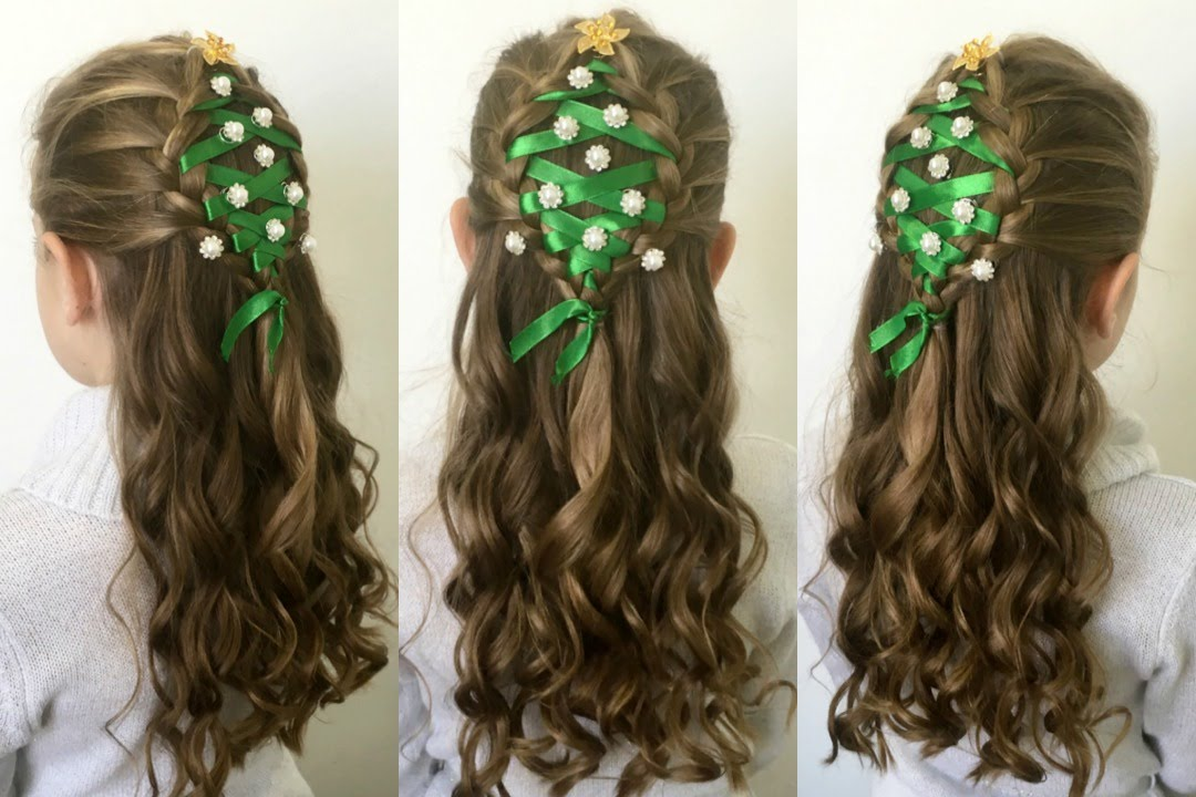 Christmas Tree Hairstyle Tutorial YouTube - Hairstyle diy video