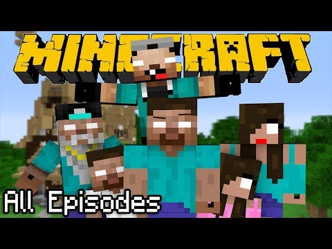 ONE HOUR of If Herobrine had a Family - All Episodes  Minecraft