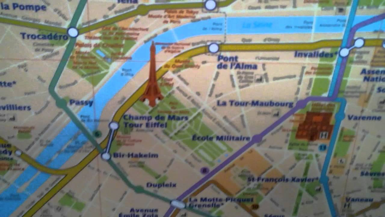 Plan metro Paris - YouTube