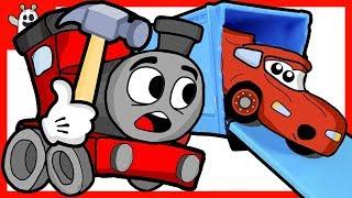 The Train Toy Repairs Race Car Broke Down | Igo The Friendly Ghost Cartoons