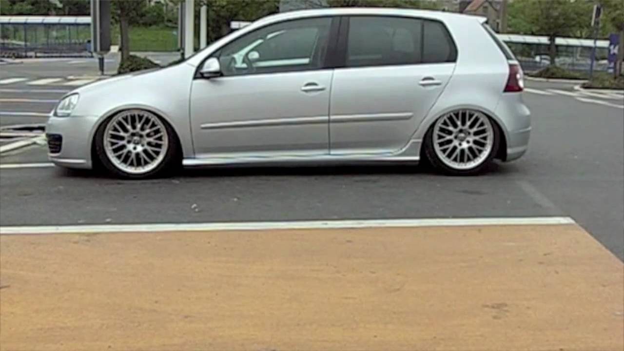 vw golf mk 5 on air ride g a s hd youtube. Black Bedroom Furniture Sets. Home Design Ideas