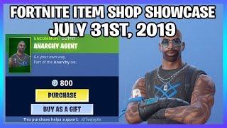 *NEW* ANARCHY AGENT SKIN SET! (Fortnite Item Shop 31st July)