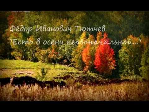 Изображение предпросмотра прочтения – ЕлизаветаСавенко читает произведение «Есть в осени первоначальной» Ф.И.Тютчева