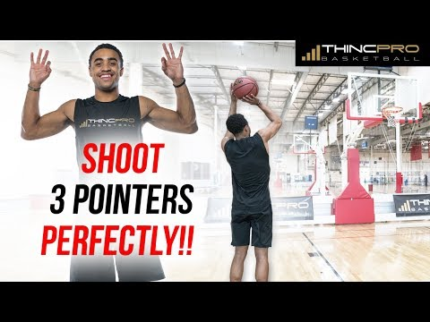 How To Shoot A 3 Pointer PERFECTLY!!! Basketball Shooting Drills