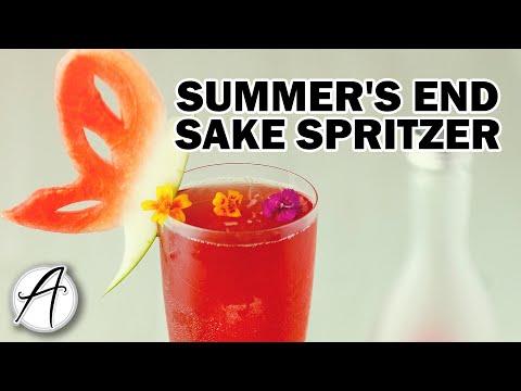 How to Make a Summer's End Sake Spritzer   Sake Cocktail Recipe