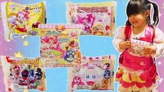 キラキラ☆プリキュアアラモードと宇宙戦隊キュウレンジャーの菓子パン&スナックを見つけたので買ってきました   中にはとってもかわいいキ...