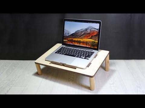 DIY LAPTOP STAND WITH CNC LASER CUTTING MACHINE