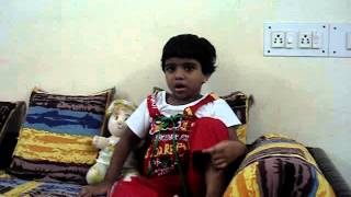 3 year old Indian Kid Nishvitha Singing Patriotic Songs