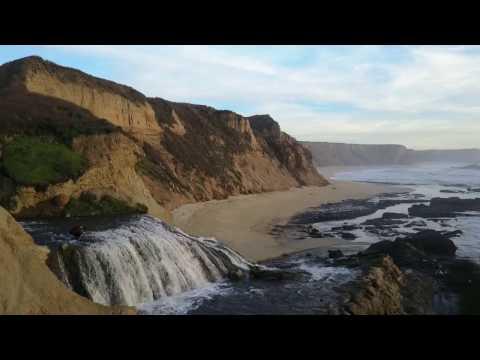 Secret Waterfall in Half Moon Bay Revealed via Drone