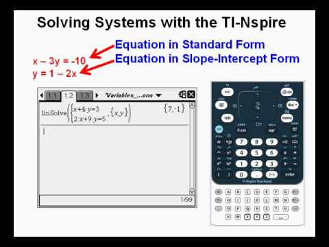 Solving Systems With The Ti Nspire So Easy Its Like Cheating Youtube