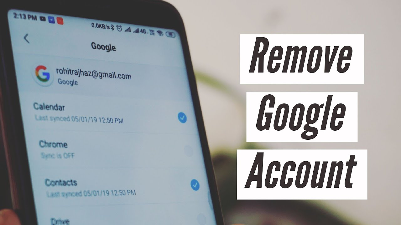 Redmi Note 5 Pro | How To Remove Gmail Account