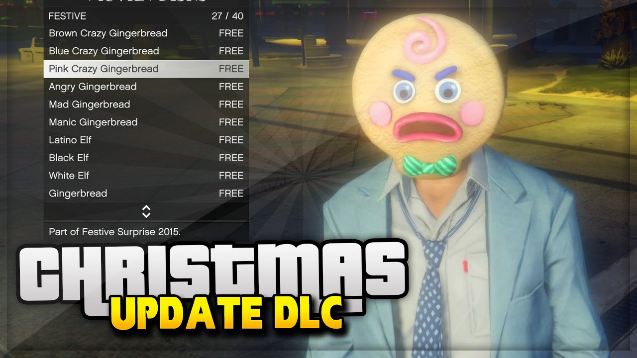 Gta 5 Online Christmas Masks.Gta 5 Christmas Dlc Update Gta Online New Masks Clothes Christmas Tree Gta 5 Online Gameplay