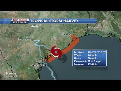 Harvey moving back toward the Gulf of Mexico