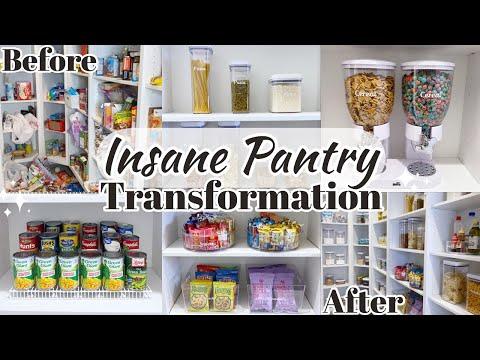 INSANE PANTRY TRANSFORMATION | PANTRY ORGANIZATION | HOW TO ORGANIZE YOUR PANTRY 2021 - Melina Brook