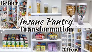 INSANE PANTRY TRANSFORMATION | PANTRY ORGANIZATION | HOW TO ORGANIZE YOUR PANTRY 2021
