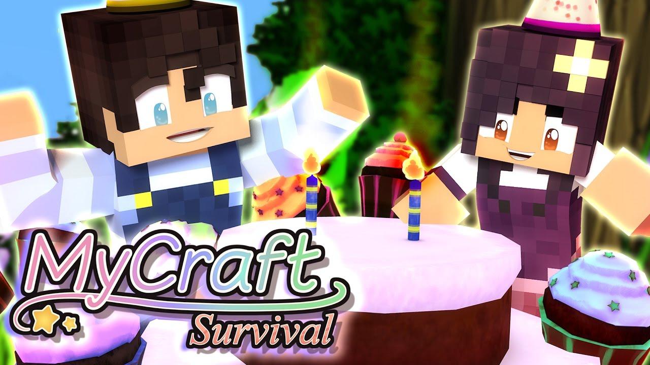Baby Birthday Party Mycraft Family Minecraft Survival