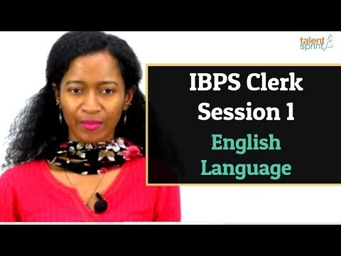 IBPS Clerk Mains Refresher - Session 1 | English Language | Today @ 11 AM | TalentSprint