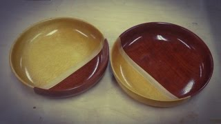 Woodturning Bubinga and Yellowheart Bowls