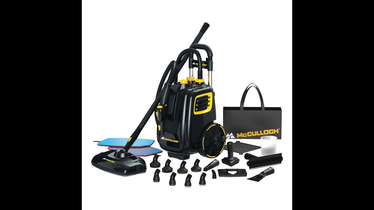 Review Mcculloch Mc1385 Deluxe Canister Steam System Youtube