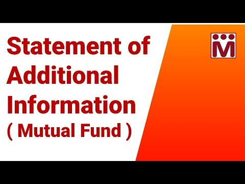 Statement of Additional Information | Scheme Information Document | Mutual funds