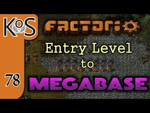 Factorio: Entry Level to Megabase Ep 78: GEAR & STEEL PRODUCTION - Tutorial Series Gameplay