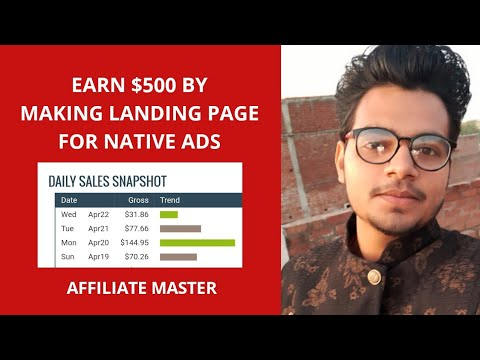 Earn $500 By Making Landing Page For Native Ads.