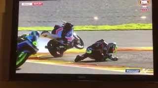 Moto3 qualifying crash; Rodrigo highside @ Valencia round 18,  2015