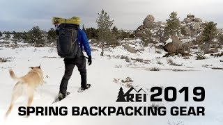 Spring lightweight backpacking with 2019 REI gear and dog