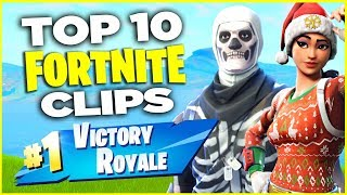 TOP 10 Fortnite CLIPS! NEW Series! (Best Fortnite Battle Royale Kills and Funny Moments)