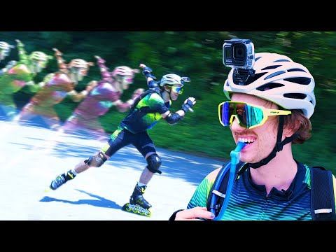 the rollerblader's world is limitless