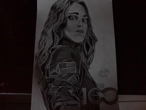 """Desenhando Clarke da série """"The 100"""""""