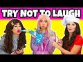 Real or Fake Youtubers Try Not to Laugh with Water in Your Mouth. Totally TV