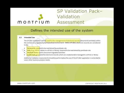 SharePoint for Pharma - Validating SharePoint for Regulated Life Sciences Applications
