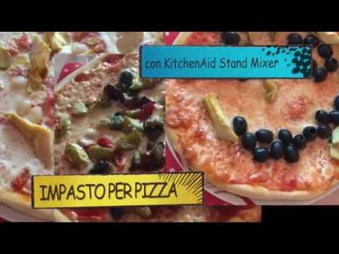 Ricetta pasta per pizza con planetaria kitchenaid youtube for Pizza con planetaria