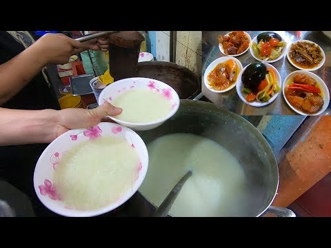 Tô Cháo Trắng Hàng Xanh Chỉ 8k Bán Thâu đêm Mà Luôn đông Nghẹt Khách Vì đồ ăn Kèm Quá Ngon ở Sài Gòn