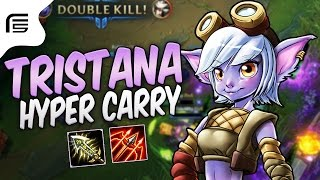 TRISTANA HYPER CARRY - LATE GAME FICARIA ABSURDO! - League of Legends - Fiv5 gameplay - [ PT-BR ]