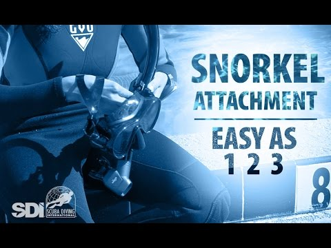 Mask, Snorkel & Fins | Snorkel Attachment: Easy as 1-2-3