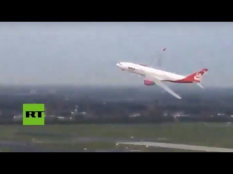 Polémica maniobra de aterrizaje en el último vuelo transatlántico de Air Berlin