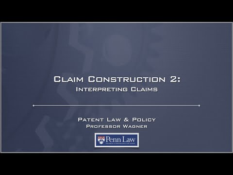 Lecture 12 - Claim Construction 2