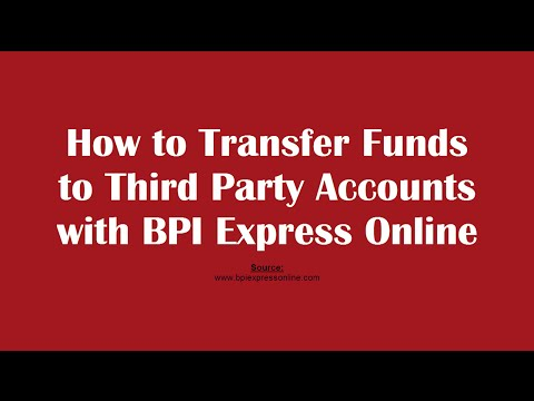 Can i transfer money from bpi to bdo online