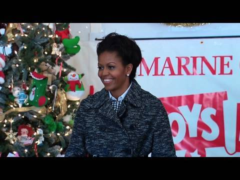 The First Lady Delivers Toys for Tots