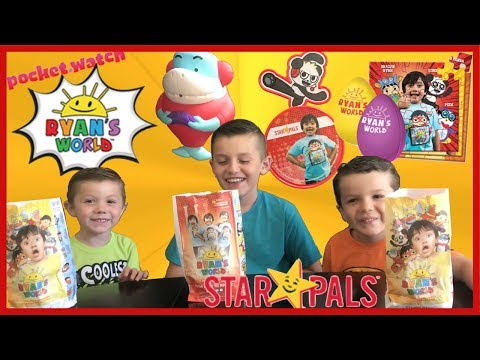 New Ryan's World Star Pals Toys Kids Meal Surprise At Carl's Jr. And Hardees
