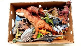 My Jurassic World2 Dinosaur Toy Box! Learn Dinosaur Names With Action Dino Toys