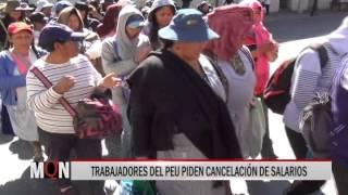 31/08/15  14:40  TRABAJADORES DEL PEU PIDEN CANCELACIÓN DE SALARIOS