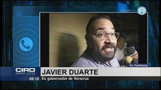 Mi familia vive una situación precaria en Londres: Javier Duarte