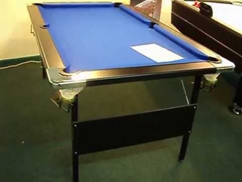 Nice Deluxe Folding Leg Pool Table By Baize Craft Of Lisburn, N.Ireland