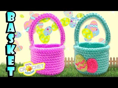Easter Egg Hunt Crochet Basket Tutorial