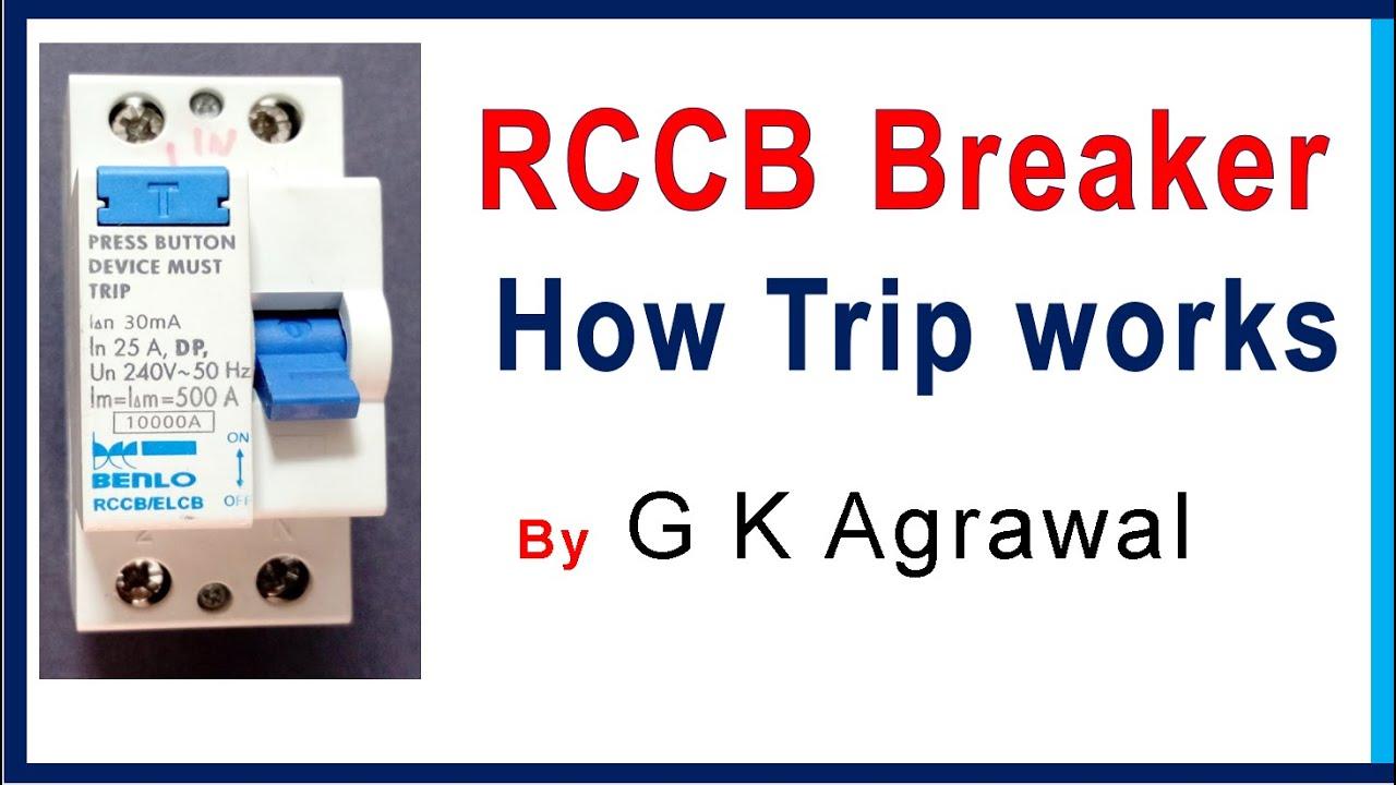 Rccb Circuit Breaker Working How Trip Works Youtube Does A Work 2 Gkagrawal Electricalengineering Circuitbreaker