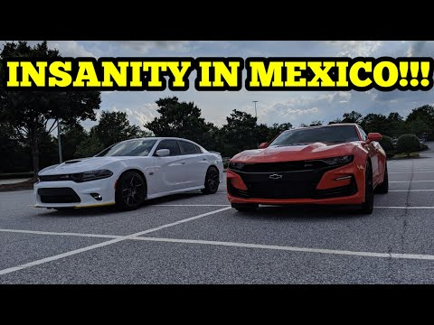 2019 CAMARO SS VS. 2019 CHARGER 392!!! BACK TO THE MEXICO MADNESS!!